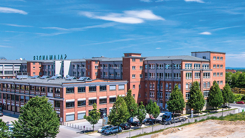 Salamander-Areal, Kornwestheim, Ansicht Hauptgebäude Rückseite