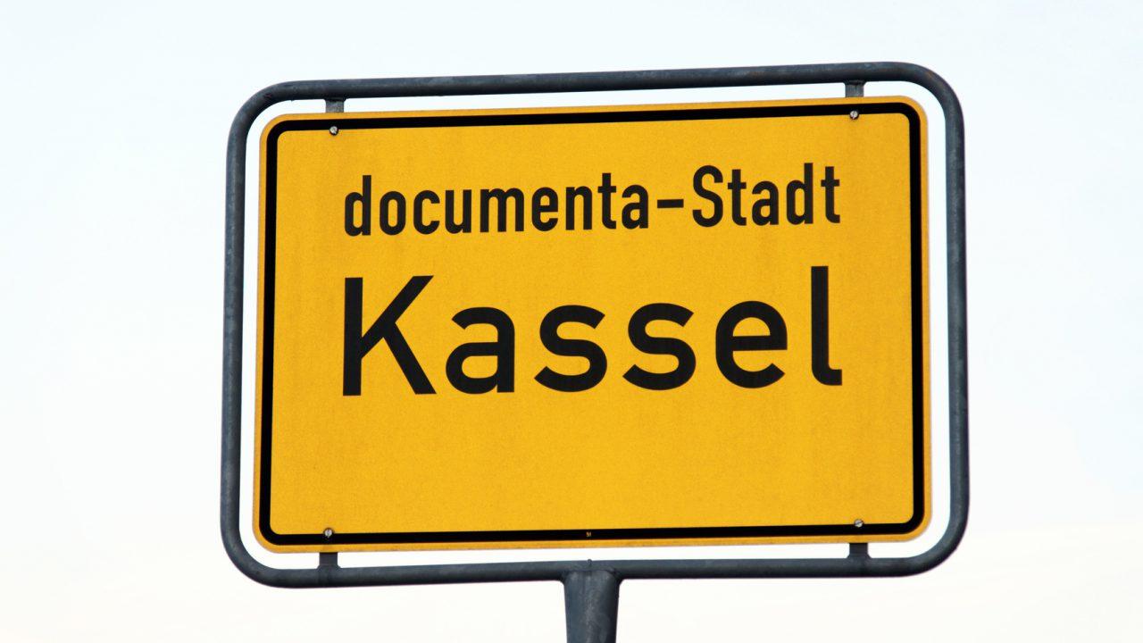 Schild Documenta-Stadt Kassel