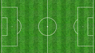 Illustration: Fußballspielfeld
