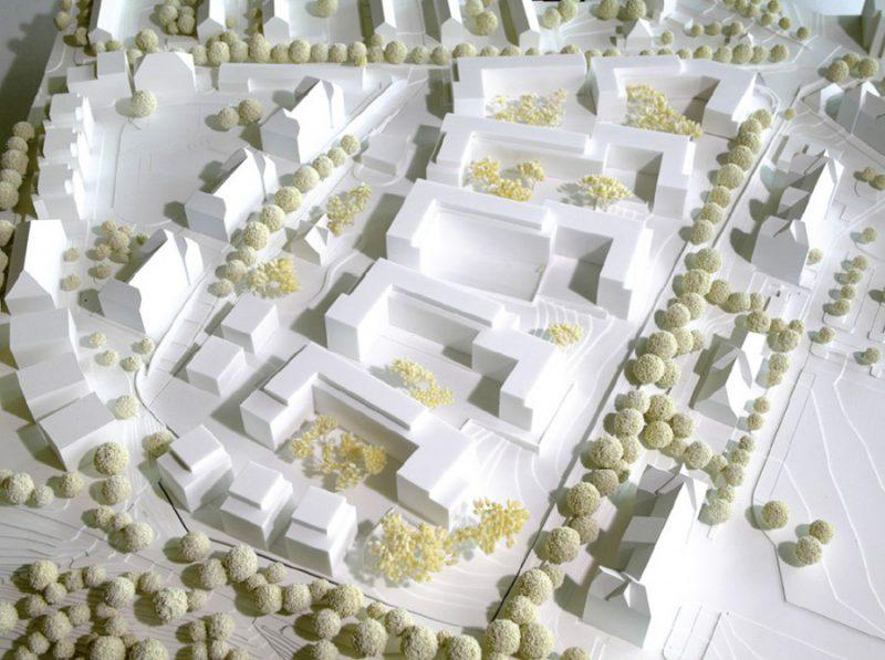 Modell Siegerbeitrag Modell Wuttke & Ringhof Architekten für das Park Schönfeld Carree, Kassel