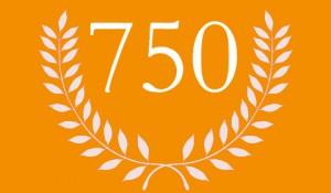 750 Beiträge im Blog