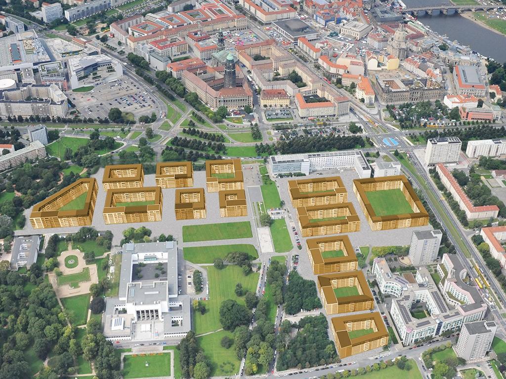 Projekt-Skizze Lingener Altstadtgarten
