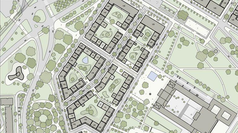 Projekt Lingner Alstadtgarten, Dresden - Planungsgrundlage, Entwurf Peter Kulka Architektur