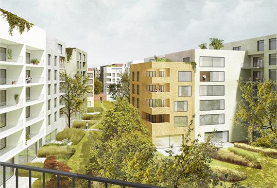 Werkstattverfahren - Wohnquartier Zinzendorfstraße | Peter Kulka Architektur | Stand 15.10.2015