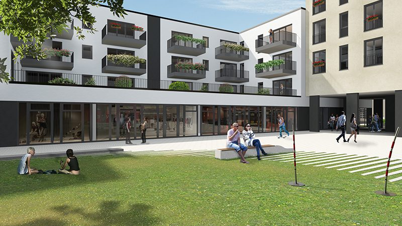 Projekt Salamander-Areal, Kornwestheim, Neubau am Salamanderplatz