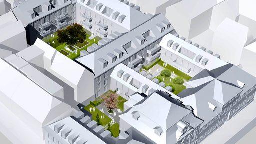 Projekt Höfe Am Kaffeeberg, Ludwigsburg, Virtuelles Modell