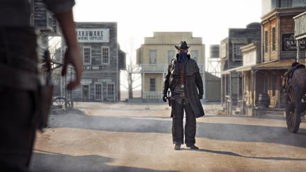 Cowboy in Westernstadt