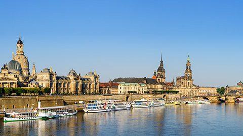 Ansicht Stadt Dresden, Elbufer