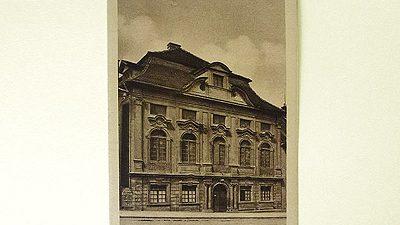 Postkarte mit Ansicht des Grafenbaus inLudwigsburg