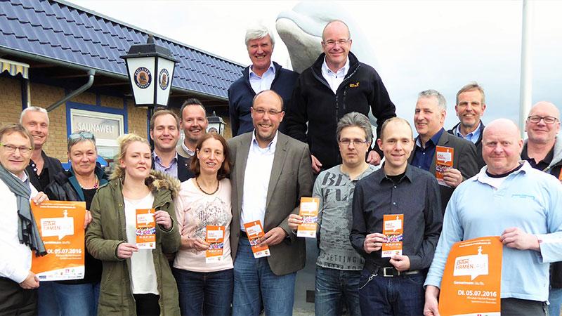 DAK Firmenlauf Nordhessen 2016, Gruppenbild der Sponsoren