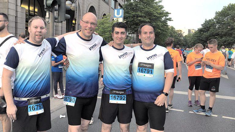 """J.P. Morgan Challenge Frankfurt 2017 - Laufteam """"immo runners"""" der IMMOVATION-Unternehmensgruppe"""