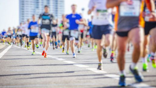 Illustration: Marathon Läufer