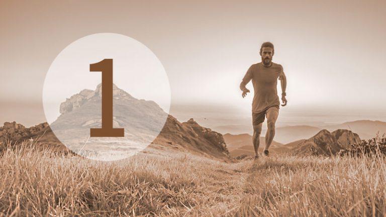 Illustration: Läufer in Landschaft (Nr. 1)