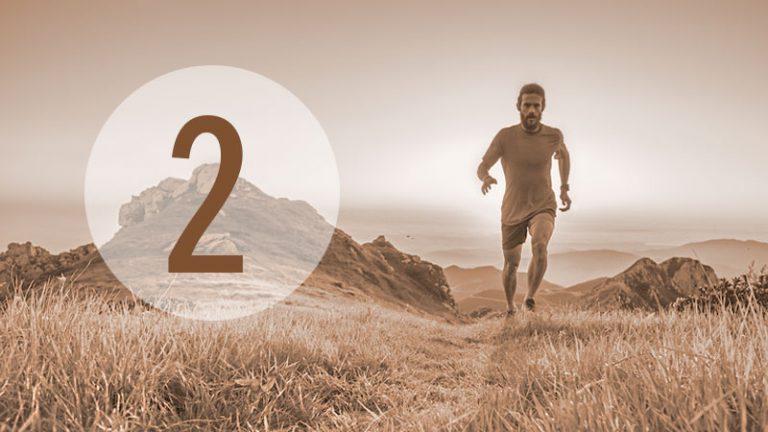 Illustration: Läufer in Landschaft (Nr. 2)