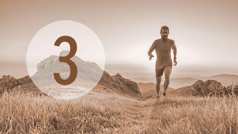 Illustration: Läufer in Landschaft (Nr. 3)