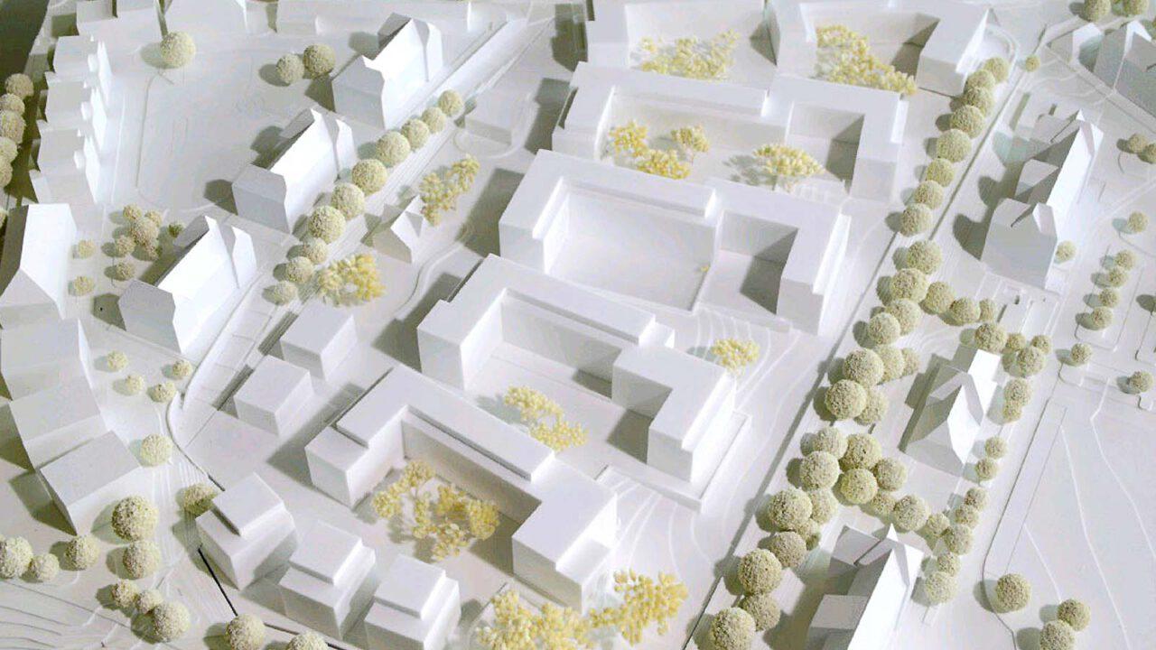 Modell der möglichen Bebauung (Wuttke & Ringhof Architekten)