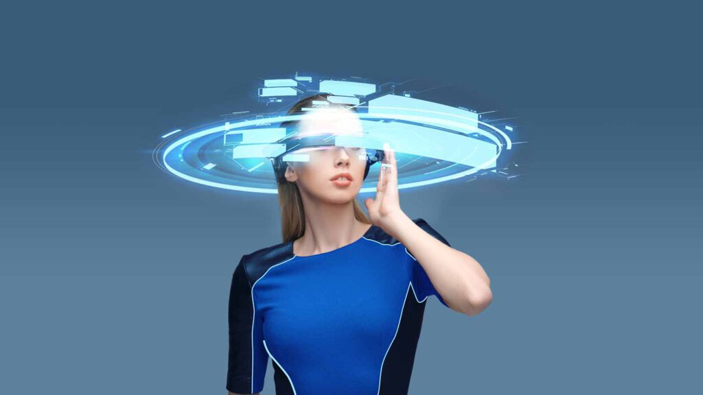 Virtuelle Läuferin