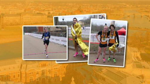 Jens Nerkamp, Philipp Stuckhardt, Tom Ring und Nils Bergmann - Laufteam Kassel beim Citylauf in Dresden: endlich wieder live Lauf-Atmosphäre!