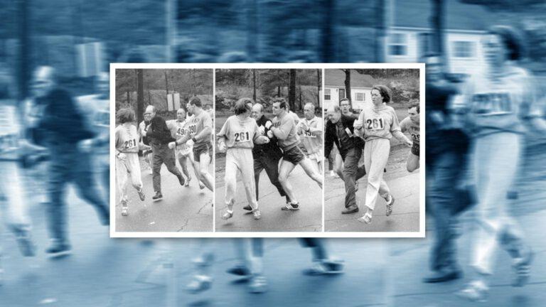 Kathrine Switzer beim Boston-Marathon-1967