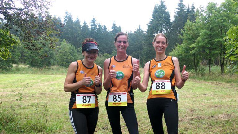 Ewa Grazyna Szczeblewski, Ute Schumann Kraechter, Sabine Bergmann (alle Laufteam Kassel)
